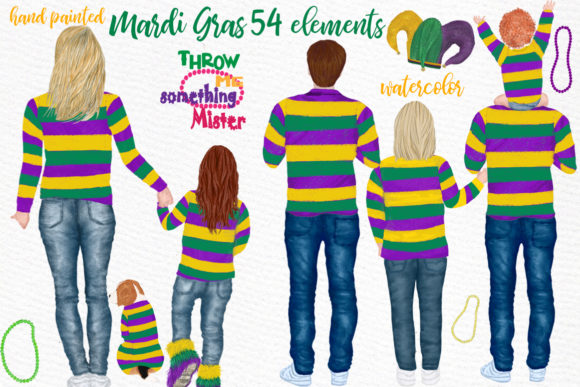 Mardi Gras Clipart Graphic Illustrations By LeCoqDesign