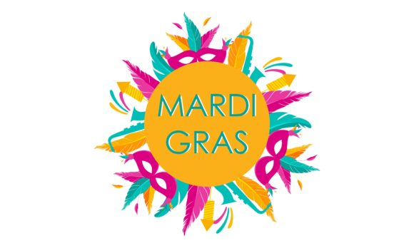 Download Free Mardi Gras Carnival Party Design Logo Graphic By Deemka Studio for Cricut Explore, Silhouette and other cutting machines.
