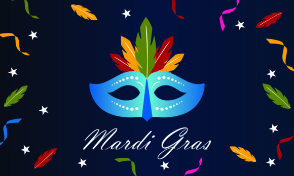 Download Free Mardi Gras Carnival Party Design Logo Graphic By 2qnah for Cricut Explore, Silhouette and other cutting machines.