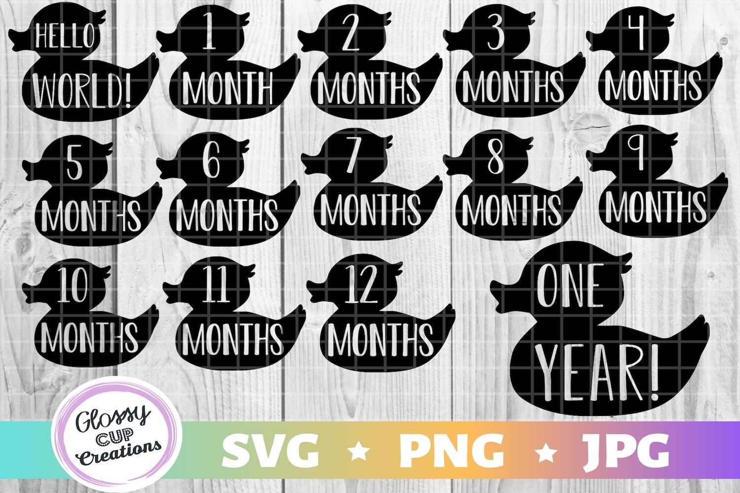 Monthly Baby Milestone – Ducklings SVG File