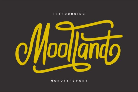 Print on Demand: Moolland Script & Handwritten Font By Vunira