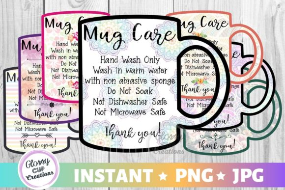 Download Free Mug Care Card Variety Pack Graphic By Suzannecornejo for Cricut Explore, Silhouette and other cutting machines.
