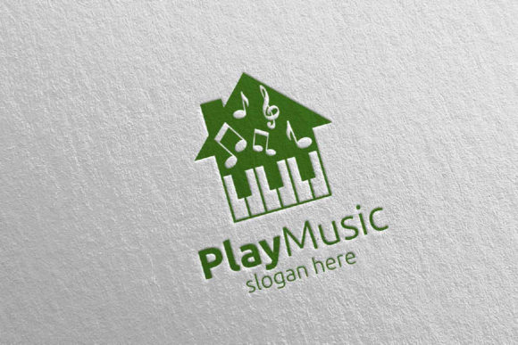 Download Free Music Logo With Note And House Concept Graphic By Denayunecf SVG Cut Files