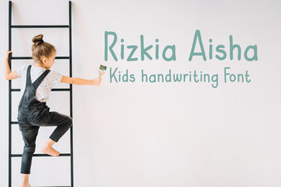 Print on Demand: Rizkia Aisha Script & Handwritten Font By Cititype