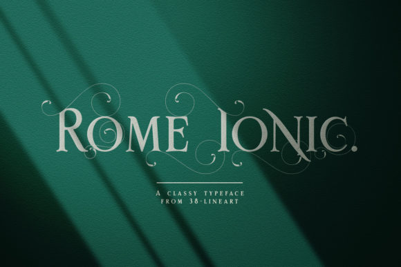 Print on Demand: Rome Ionic Serif Font By 38.lineart