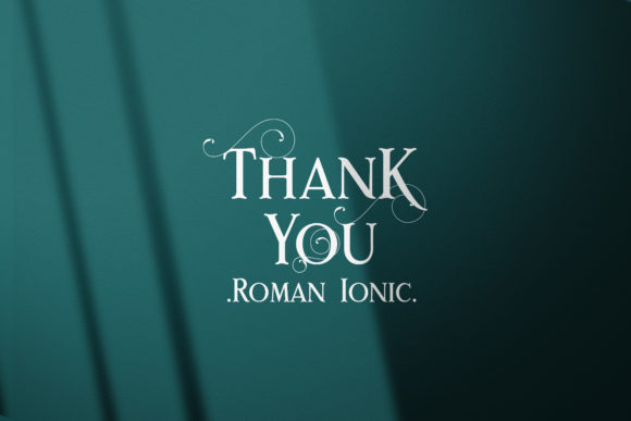 Print on Demand: Rome Ionic Serif Font By 38.lineart - Image 10