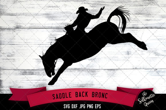 Download Free Saddle Back Bronc Rodeo Svg Cowboy Svg Graphic By SVG Cut Files