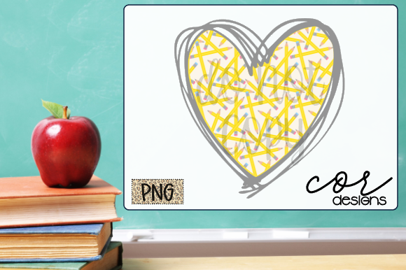 Print on Demand: School Heart Graphic Crafts By designscor
