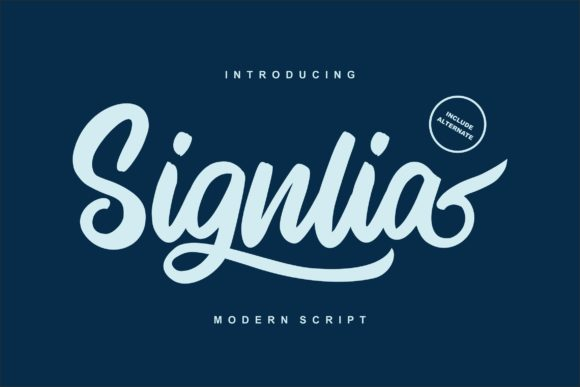 Print on Demand: Signlia Script & Handwritten Font By Vunira