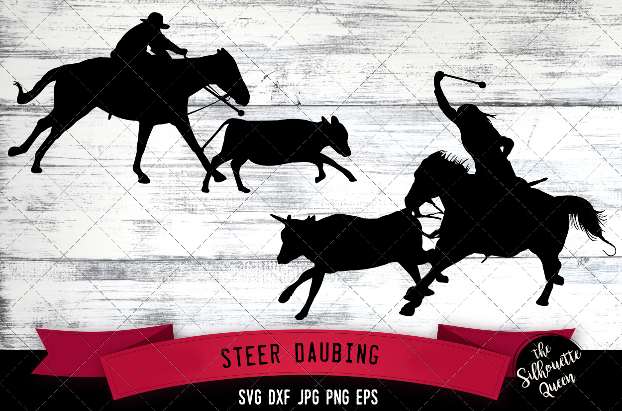 Download Free Steer Daubing Rodeo Svg Cowboy Svg Graphic By for Cricut Explore, Silhouette and other cutting machines.
