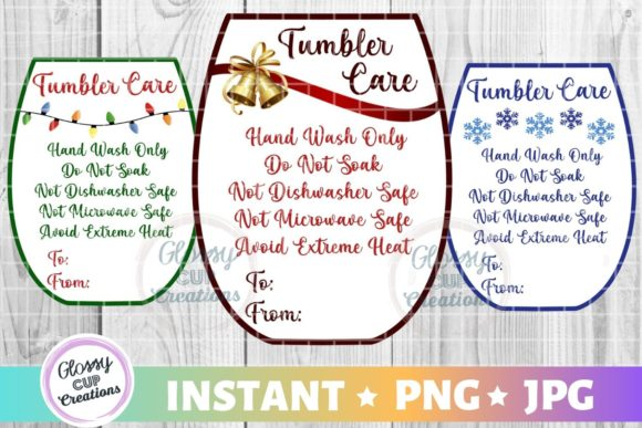 Download Free Tumbler Care Cards Holiday Sm Graphic By Suzannecornejo for Cricut Explore, Silhouette and other cutting machines.