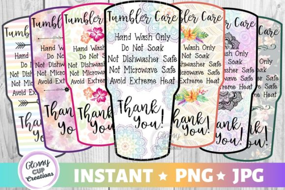 Print on Demand: Tumbler Care Cards - LG Variety Pack Graphic Crafts By suzannecornejo