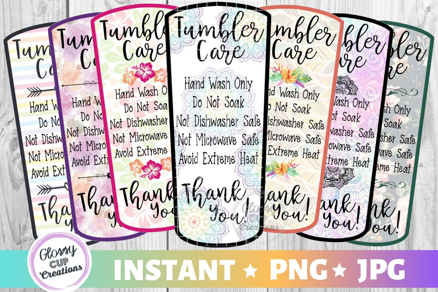 Download Free Tumbler Care Cards Md Variety Pack Graphic By Suzannecornejo SVG Cut Files