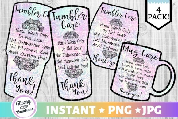 Print on Demand: Tumbler Care Cards - Paisley Graphic Crafts By suzannecornejo