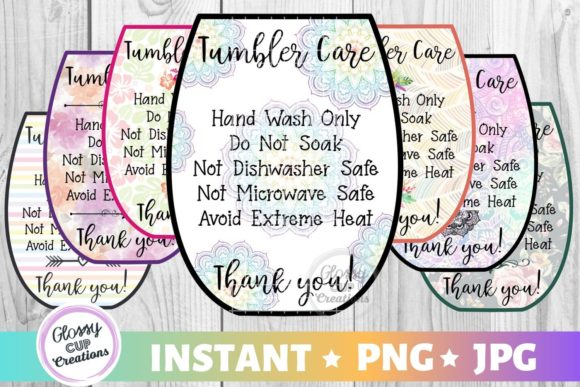 Download Free Tumbler Care Cards Sm Variety Pack Graphic By Suzannecornejo for Cricut Explore, Silhouette and other cutting machines.