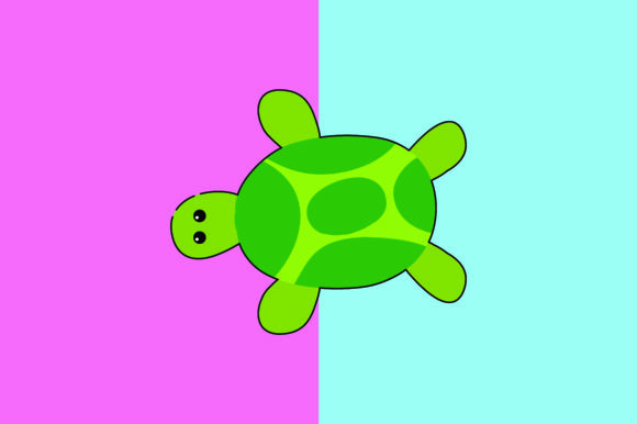 Download Free Turtle Kawaii Cute Illustration Graphic By Purplebubble for Cricut Explore, Silhouette and other cutting machines.