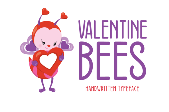 Print on Demand: Valentine Bees Script & Handwritten Font By FontEden