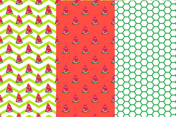 Download Free Watercolor Watermelon Digital Papers Graphic By Bonadesigns for Cricut Explore, Silhouette and other cutting machines.
