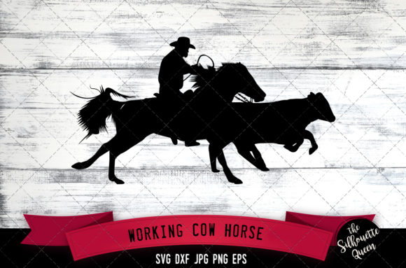 Download Free Working Cow Horse Western Style Svg Graphic By for Cricut Explore, Silhouette and other cutting machines.