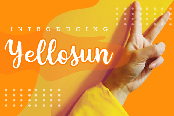 Print on Demand: Yellosun Script & Handwritten Font By fontkong - Image 1