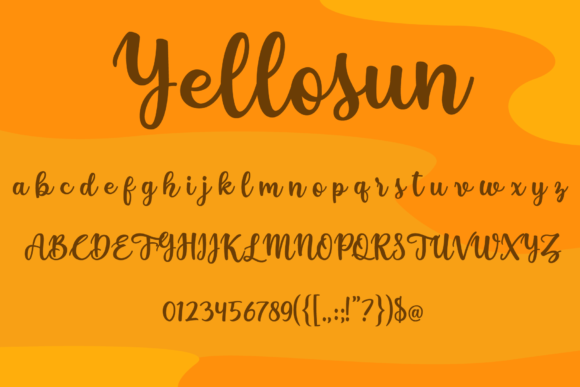 Print on Demand: Yellosun Script & Handwritten Font By fontkong - Image 6