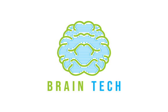 Download Free Brain Tech Logo Inspiration Logo Design Graphic By for Cricut Explore, Silhouette and other cutting machines.