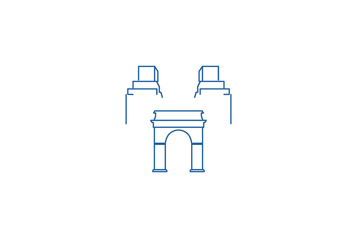 Download Free Mono Line Capital Building Logo Ideas I Graphic By for Cricut Explore, Silhouette and other cutting machines.