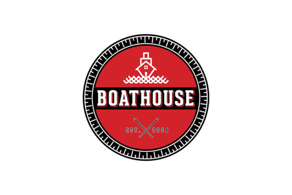 Download Free Vintage Boat House Logo Ideas Inspirati Graphic By for Cricut Explore, Silhouette and other cutting machines.