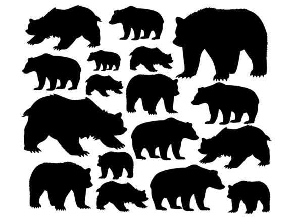 Wild Bears Graphic Icons By ekimova_lisa