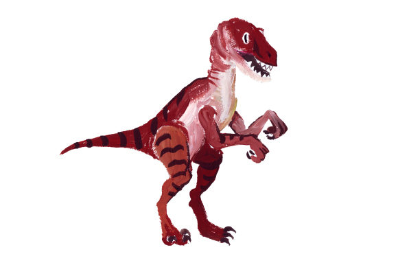 Velociraptor Dinosaurs Craft Cut File By Creative Fabrica Crafts