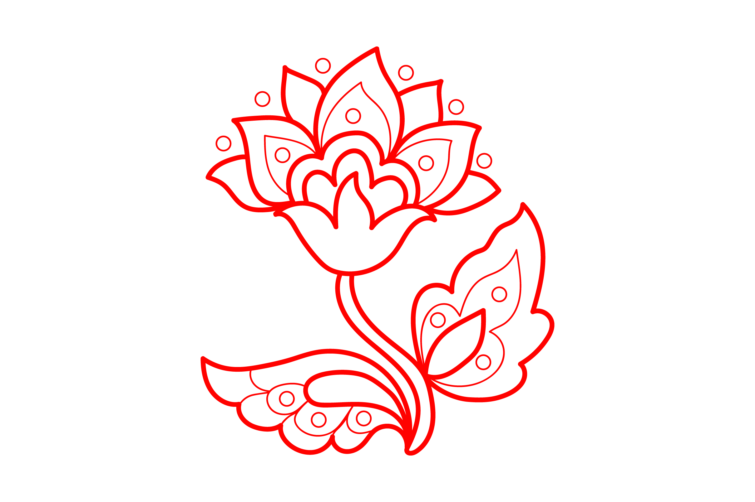 Download Free Redwork Flower Design Svg Cut File By Creative Fabrica Crafts for Cricut Explore, Silhouette and other cutting machines.