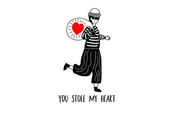 Download Free You Stole My Heart Burglar Man Svg Cut File By Creative for Cricut Explore, Silhouette and other cutting machines.