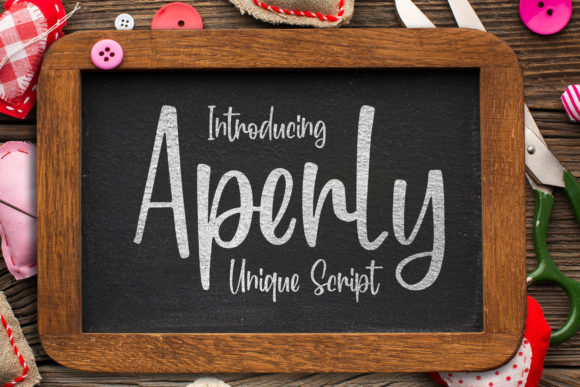Print on Demand: Aperly Script & Handwritten Font By Blankids Studio