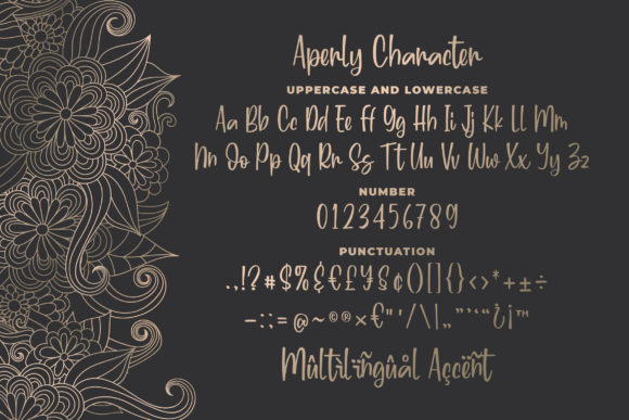 Aperly Font Preview