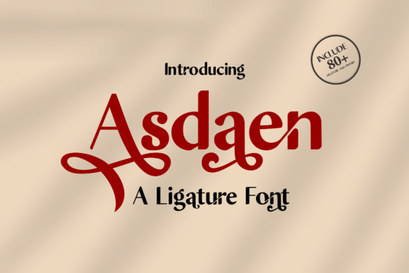 Print on Demand: Asdaen Serif Font By Malindo Creative