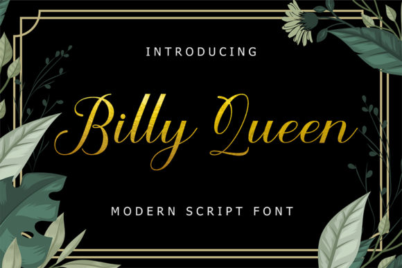 Print on Demand: Billy Queen Script & Handwritten Font By NK Studio