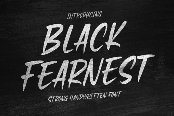 Print on Demand: Black Fearnest Script & Handwritten Font By Blankids Studio - Image 1