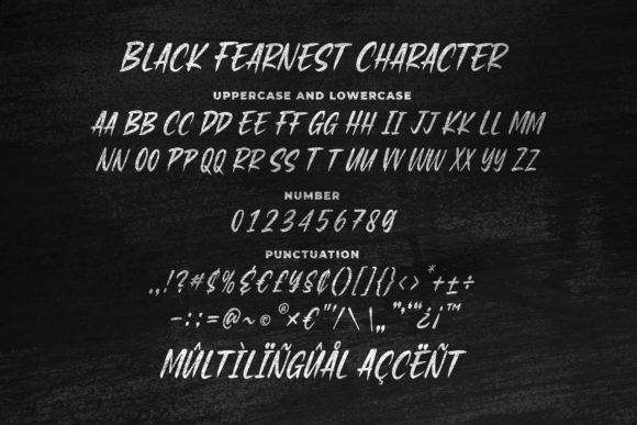 Print on Demand: Black Fearnest Script & Handwritten Font By Blankids Studio - Image 5