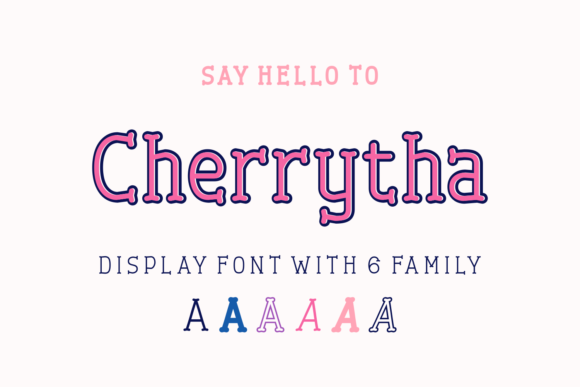 Print on Demand: Cherrytha Display Font By Jasm (7NTypes) - Image 1