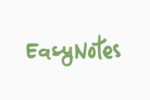 Print on Demand: EasyNotes Script & Handwritten Font By Ayca Atalay
