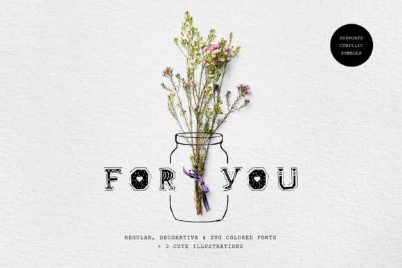 Print on Demand: For You Decorative Font By Cosmic Store