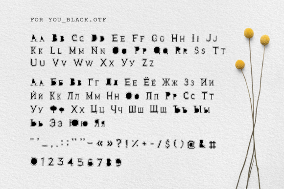 Print on Demand: For You Decorative Font By Cosmic Store - Image 13