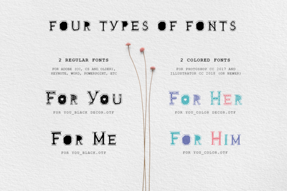 Print on Demand: For You Decorative Font By Cosmic Store - Image 9
