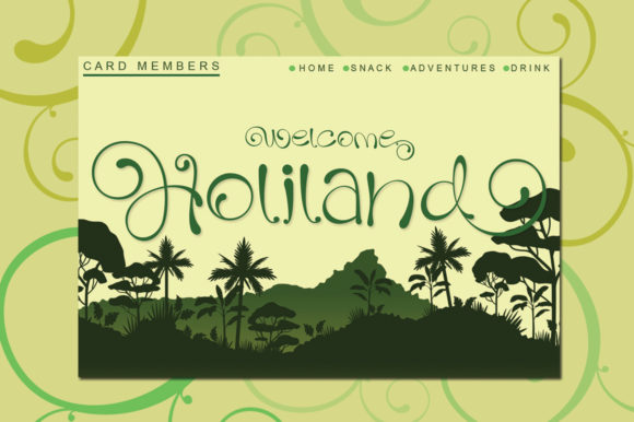 Print on Demand: Holiland Script & Handwritten Font By jehansyah251 - Image 1