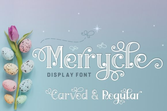 Print on Demand: Merrycle Font Display Font By Jasm (7NTypes) - Image 1