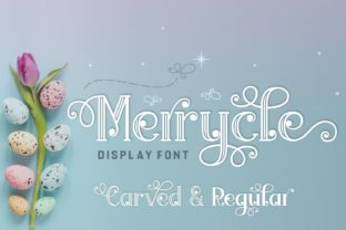 Print on Demand: Merrycle Font Display Font By Jasm (7NTypes)