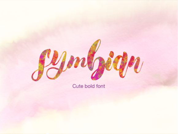 Download Free Symbian Cute Font By Syukursetiyadi Creative Fabrica for Cricut Explore, Silhouette and other cutting machines.
