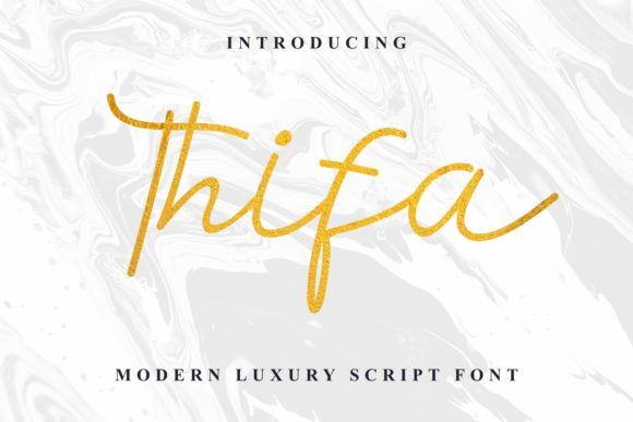 Download Free Thifa Font By Edricstudio Creative Fabrica for Cricut Explore, Silhouette and other cutting machines.