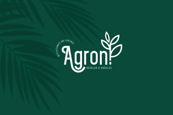 Print on Demand: Agron Display Font By Line creative - Image 1
