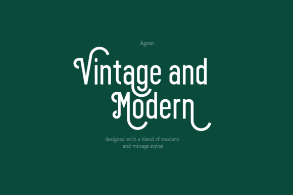 Print on Demand: Agron Display Font By Line creative - Image 2